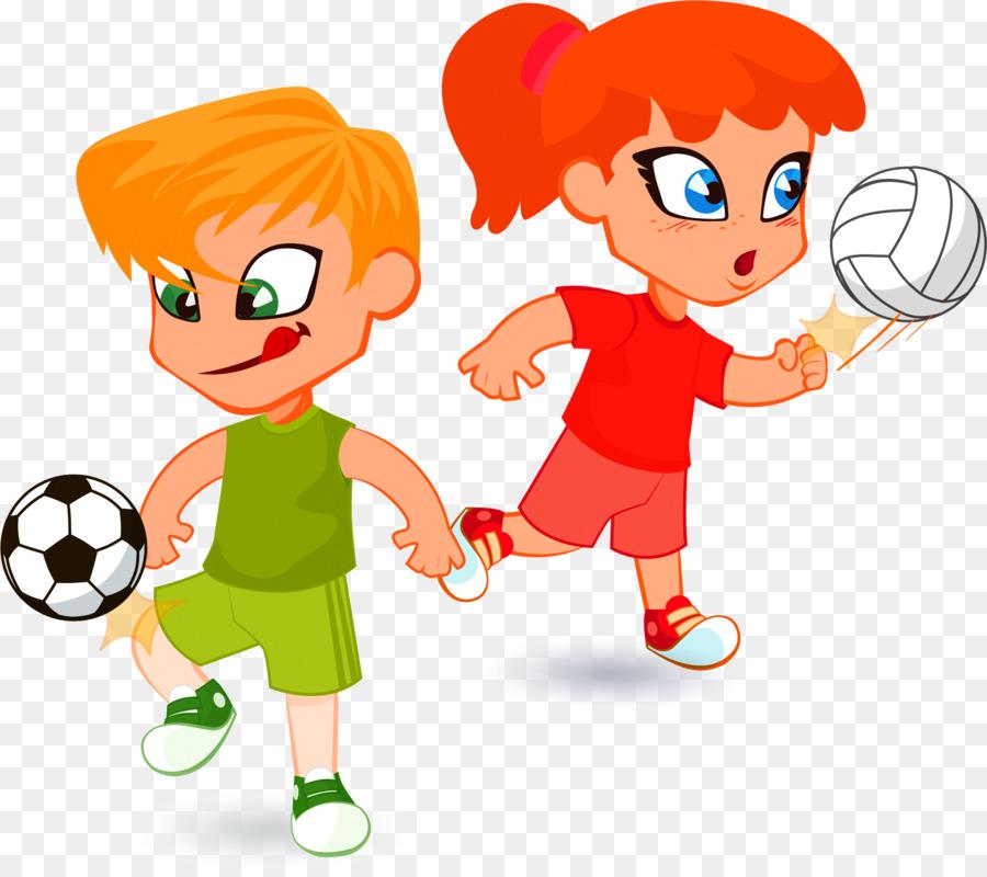 Clipart Kinder Tragbare Netzgrafik Illustrations Fussball
