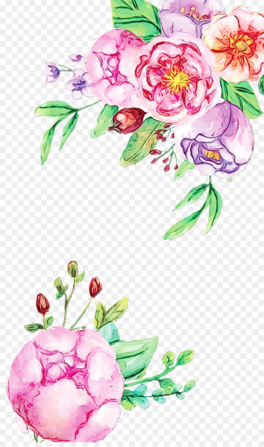 Pastel Floral Background Png Download 1039 1736 Free