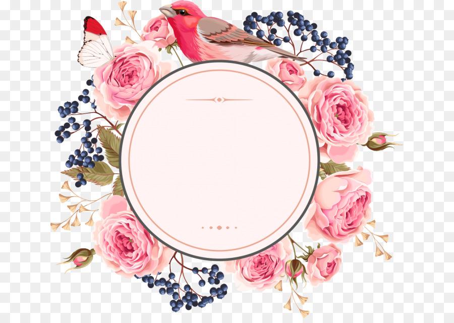Floral Wedding Invitation Background Png Download 700630