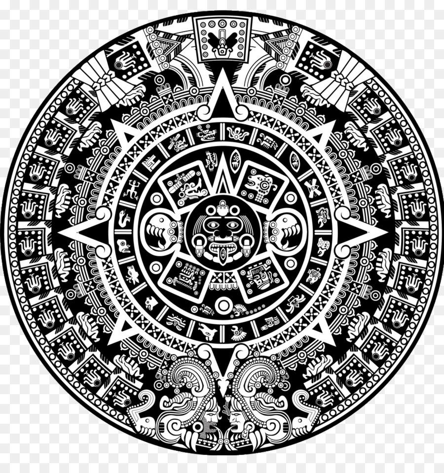 aztec calendar png silver circle png download - * - free transparent