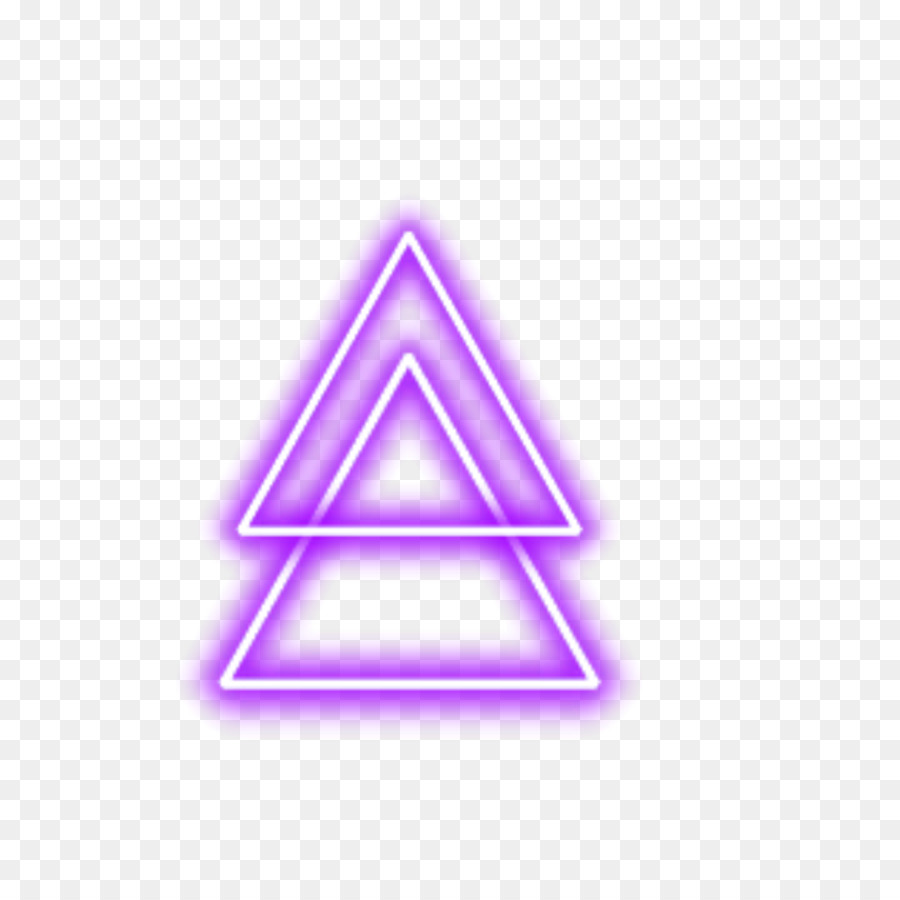 Neon Triangle png download - 1024*1024 - Free Transparent