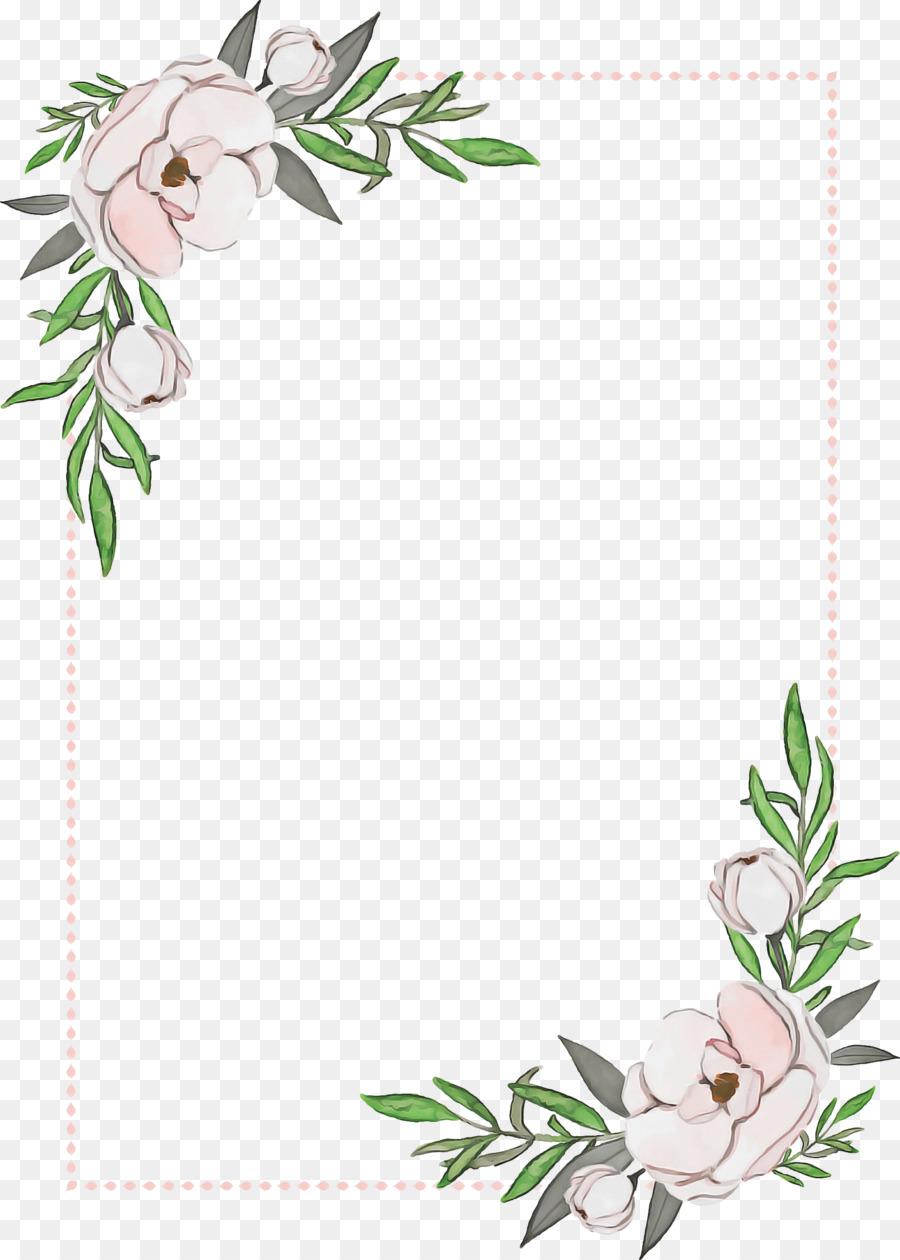 Floral Wedding Invitation Background png download   2020 ...