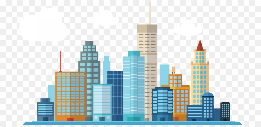 City Skyline Silhouette png download - 768*432 - Free