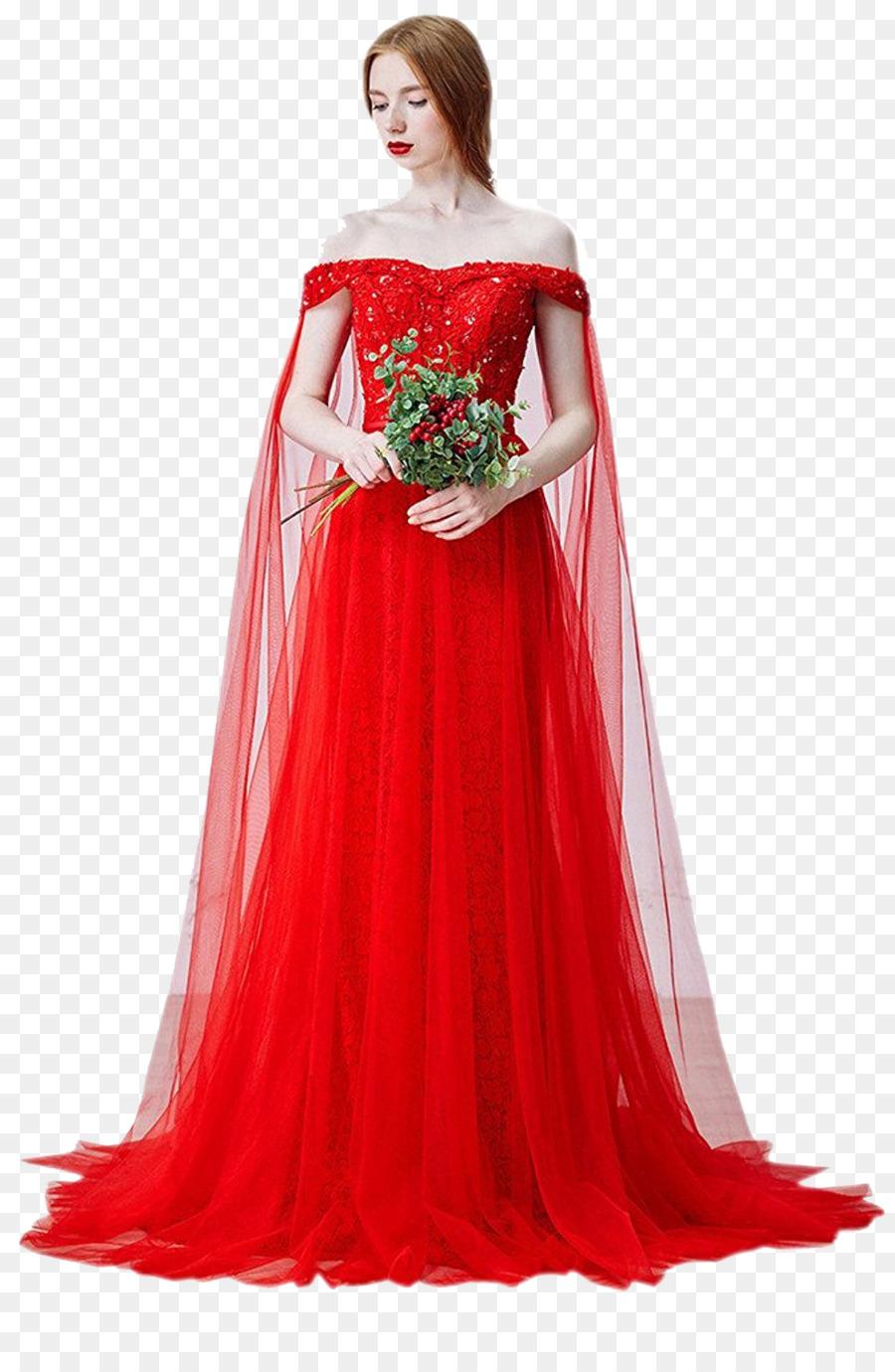Hochzeitskleid Ballkleid Braut Trägerloses Kleid - Malaysia rotes