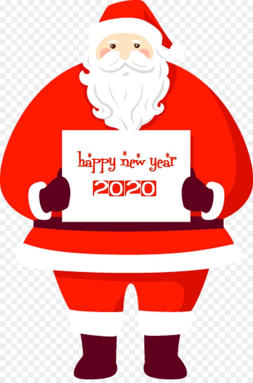 Happy New Year 2020 Santa Png Download 900 1347 Free