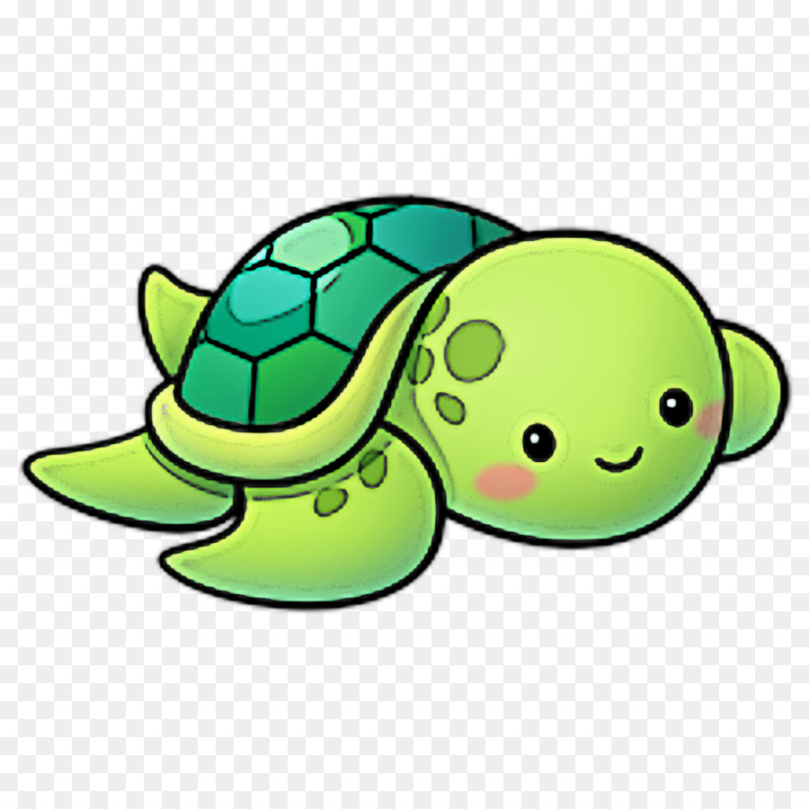 Green Sea Turtle Cartoon Turtle Green Sea Turtle Png Download