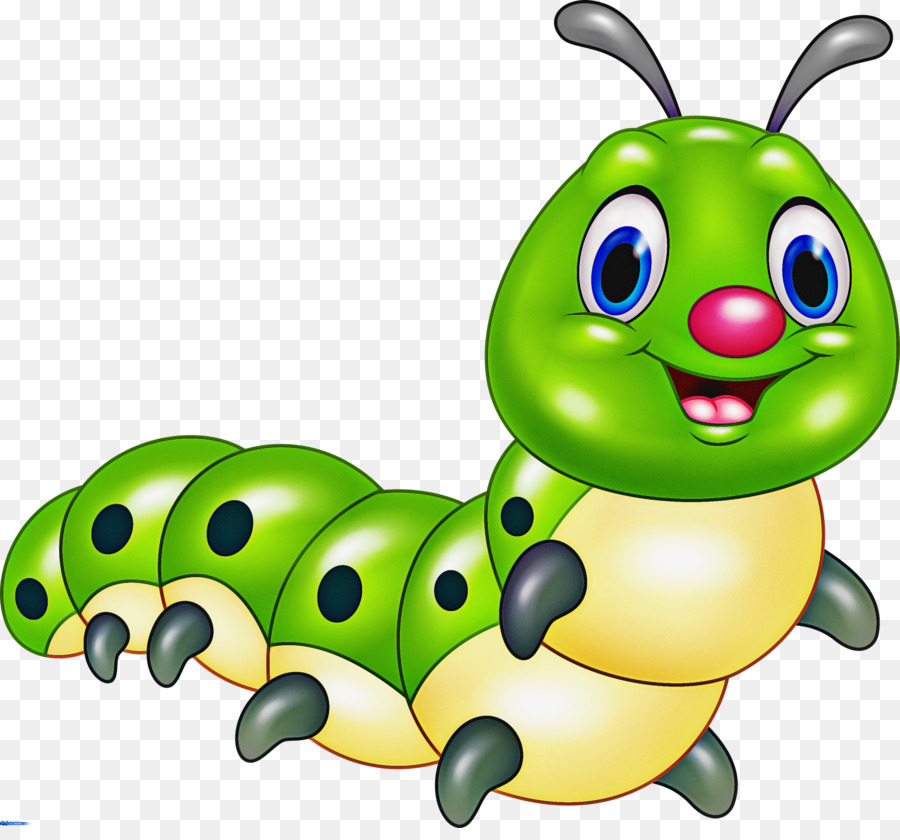 Caterpillar Insect Cartoon Green Larva Png Download 3000 2759