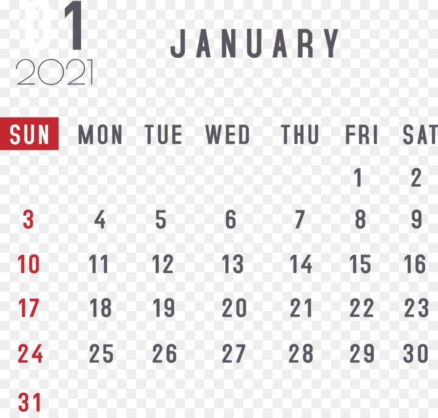 January 2021 Calendar Printable Free Monthly - January ...